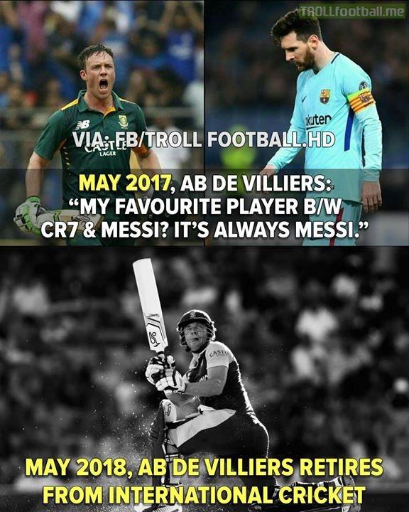 OT: AB De Villiers Retires From  International Cricket..