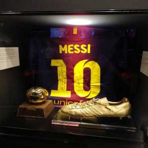 After Messi surpassed Gerd Müller for goals scored in a year, he gifted Gerd a signed jersey, who then gave it to Bayern. Nowadays it lies in a little shrine in the Allianz Arena, being the only non-Bayern related object in there.