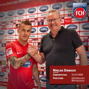 Heidenheim signs Niklas Dorsch on a free transfer from Bayern Munich II