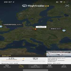 Liverpool and Real Madrid are enroute to Kyev. You can follow them live.