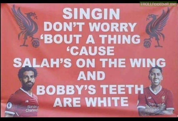 Maybe the greatest Liverpool banner of all time 🎼😂