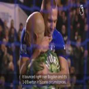 Tim Howard from downtown! 🇺🇸 🚀  GoalOfTheDay Everton Football Club