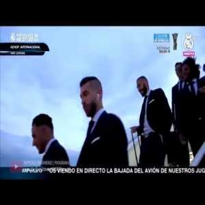 Real Madrid Arrive in Kiev For Champions League Final Against Liverpool
