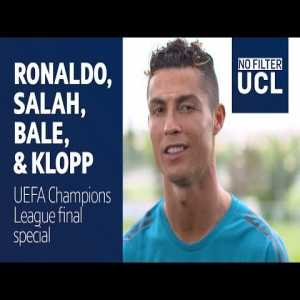 Salah, Ronaldo and Bale speak before the Champions League Final