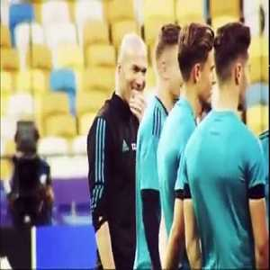 Zidane's talk to his players for the Champions League final against Liverpool