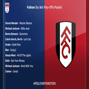 Fulham have set up there own music playlist, including Ne-Yo and Drake to play during the playoff final.