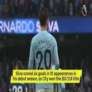 Manchester City signed Bernardo Silva a year ago today.  Now...🏆
