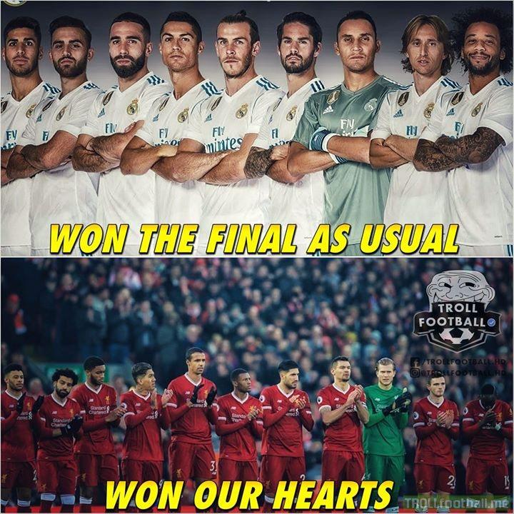 Well played Liverpool! Big teams like City,Barca,PSG, Bayern didn't make into final but you guys did 💖