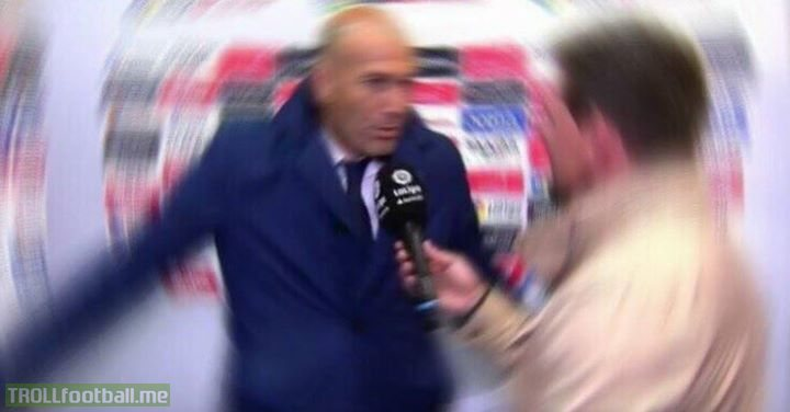 "Zidane when the interviewer asks  ""Is Bale's goal the best Champions League final goal ever?"""