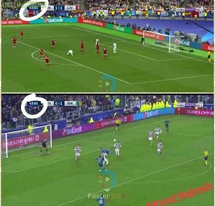 Both Real Madrid BICYCLE KICK Goals  Exactly At The Same Time.😮 What A Coincidence.😳😱😱