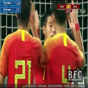 China 1 vs 0 Myanmar - Highlights & Goals - Freindly Game