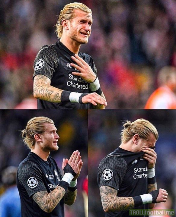 Dear Loris Karius maybe one day Liverpool fans will forgive you  But Barcelona fans will never do 😂