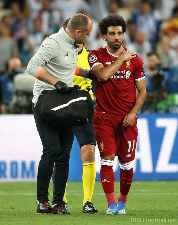 "Jurgen Klopp has confirmed Mohamed Salah suffered a ""very serious"" injury possibly to his collarbone.  Terrible to see such a fantastic player go down. Hopefully he can recover in time for the World Cup."