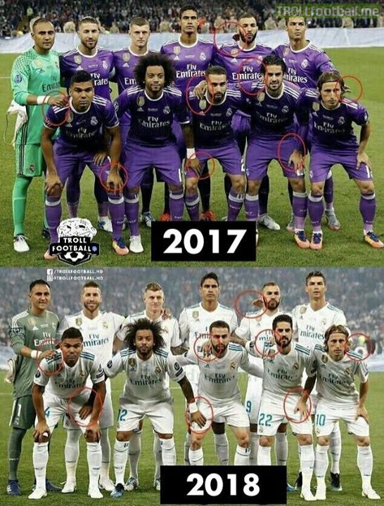 Real Madrid wins trophies because of their superstitions.