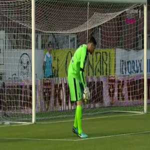 Romanian goalkeeper takes time wasting to another level
