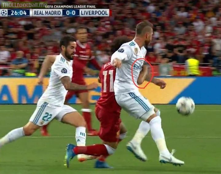 "Salah: ""Ramos' tackle on me was very clean. I clutched his arm as I was going down, and then I fell down on my shoulder. Don't listen to Barka dogs on the internet."""