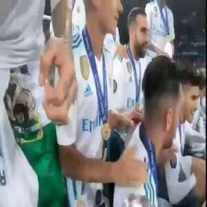 Sergio Ramos and Cristiano Ronaldo singing Where is CR7 ¿CR7 where is