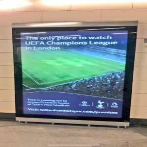 Spurs new Stadium advertisements in London