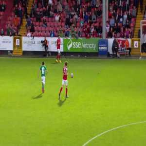 Cork city player Kieran Sadlier scoring from his own box