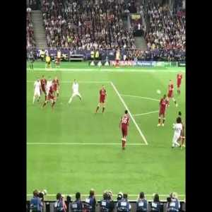 Gareth Bale's first goal from the stands