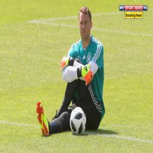 Manuel Neuer is NOT in the starting lineup for the friendly against the Germany U20 team.