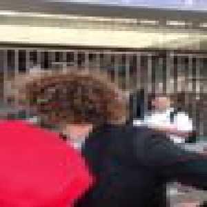 Marouane Fellaini getting abused by Liverpool fans in Kiev