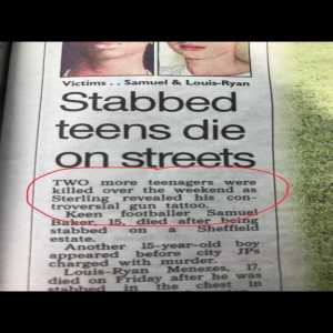 Sterling witch hunt reaches new low, after being linked with a double stabbing in Sheffield