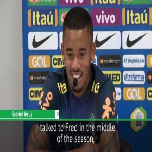 Gabriel Jesus says he'll support Fred even if he moves to Manchester United