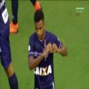 Rodrygo (Santos) hat-trick goal vs. Vitória (3-0) [Brasileirão Série A]