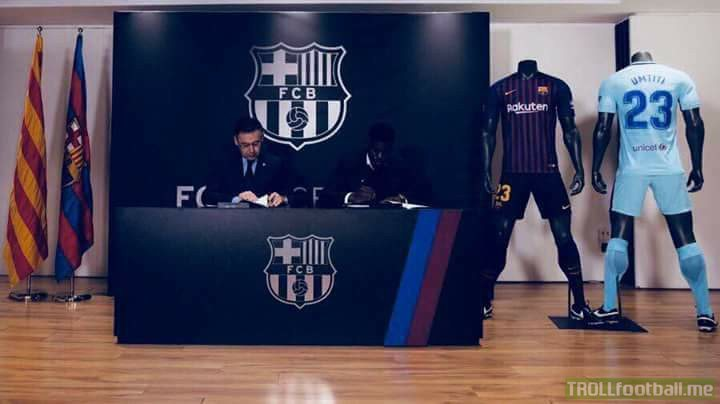 Umtiti Signing Contract Extension With  FC Barcelona.. 👀👀 MJJ