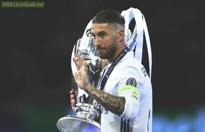 """Sergio Ramos on Liverpool fans:   """"They've been such a bore with the Salah issue... Now the goalkeeper says he was concussed by a collision with me, it only needs Firmino to say he had a cold because I dropped sweat on him.""""  Shots fired. 🔥🔥🔥"""