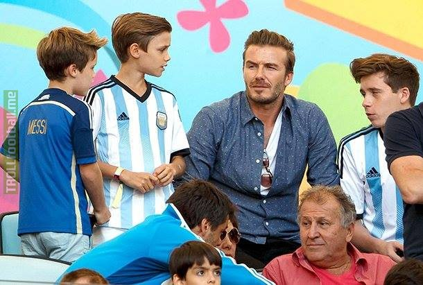 """Unfortunately, my sons like Lionel Messi more than me. And they're Argentina fans."" -David Beckham"