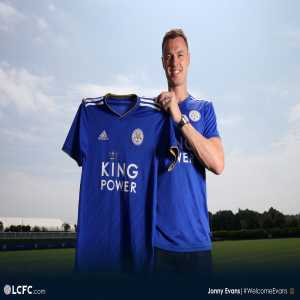 LCFC have completed signing of Jonny Evans for £3.5m