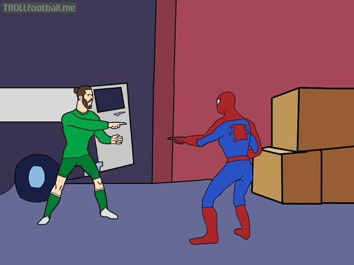 De Gea meets Spider-man 😬