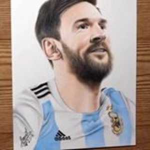 This drawing of Lionel Messi is so realistic! Amazing talent 😳👏  🎥: SanilArtist