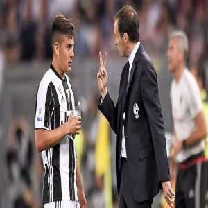 """Allegri on Paulo Dybala's future: """"I spoke to him before he went on holiday & his objective is to have another great season with us, then go to a great team to improve. If you're playing for #Juventus, you have only three chances to improve: Real, Barça or Bayern"""""""