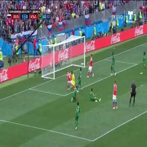 Denis Cheryshev goal vs. Kingdom of Saudi Arabia ([2]-0)