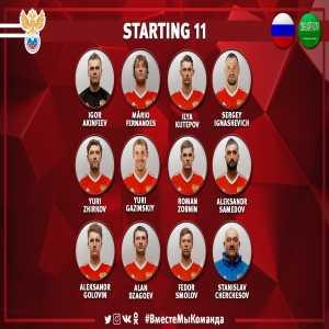 Russia XI vs Saudi Arabia