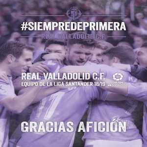 Real Valladolid have been promoted to La Liga!