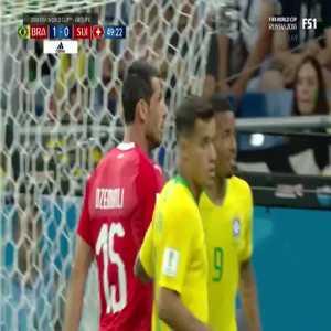 Brazil 1-[1] Switzerland - Zuber 50' [2018 World Cup]