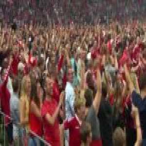 Denmark's national stadium when Yussuf Poulsen scored against Peru