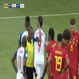 De Bruyne Yellow Card on Tejada 88' [2018 FIFA World Cup]