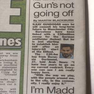 Ilkay Gundogan eyeing long term Manchester City stay despite Barca interest.