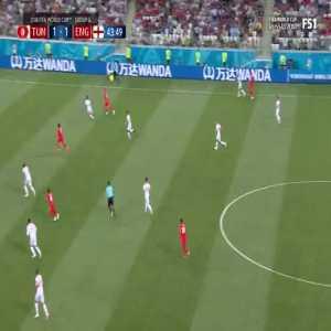 Lingard shot off the post vs Tunisia