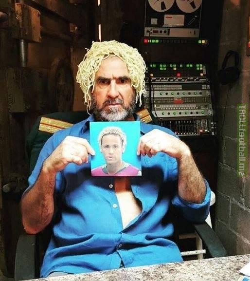 Man United legend Eric Cantona gets his own Neymar haircut 😂