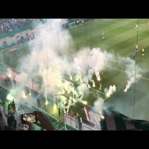 Sporting Ultras throwing pyro flares at Rui Patricio (May'18) after a reunion with Sporting President