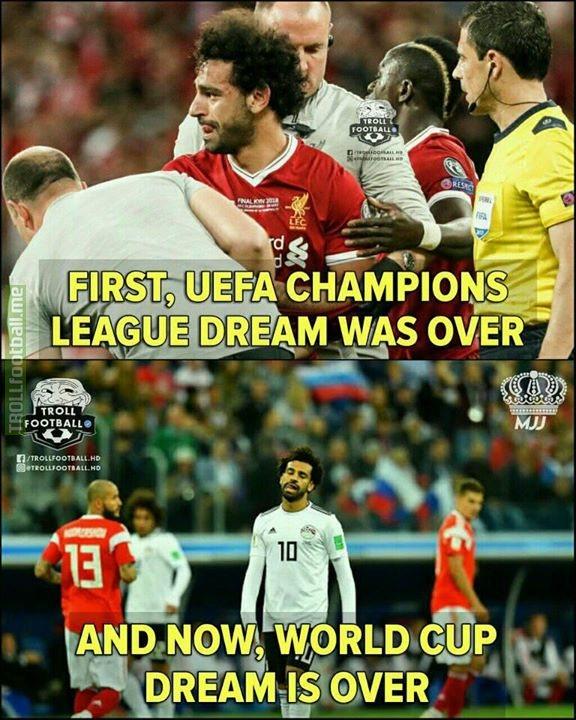 Bad Luck, Mohamed Salah..💔😭