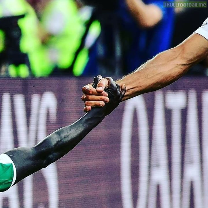Photo Taken in Poland vs Senegal ❤  What a photo gentlemen ❤ Much more than a game ❤