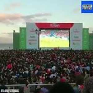 Ronaldo sending the Portugal fans wild with his free-kick vs Spain 🔥