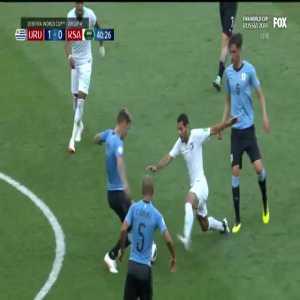 Al Jassim goes down awkwardly vs Uruguay